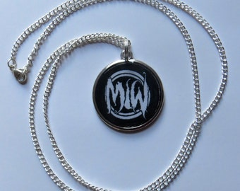Motionless in White  *MIW double sided disc necklace* on silver plated chain
