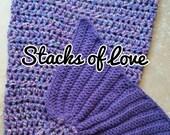 CUSTOM Listing for Peggi D. Mermaid Blanket Crochet