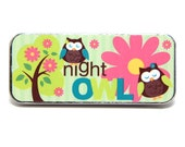 Magnetic Needle Case Needle Slider Case Night Owl Hootie Handcrafted Needle Nanny