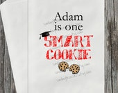 Qty 10 GRADUATION / He's or She's One Smart Cookie / RED / Cookie Buffet Party Favor Bags / Boy Girl / School Colors Personalized 3 Day Ship