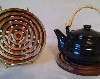 TRIVETS - Canary Wood and Walnut