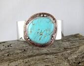 Reserved: Kingman Turquoise Cuff Bracelet