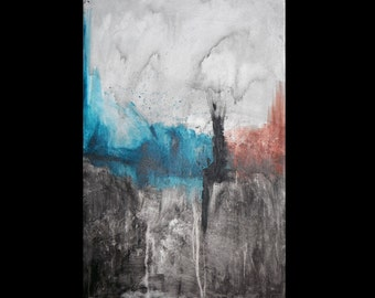 Abstract painting on canvas - Now II