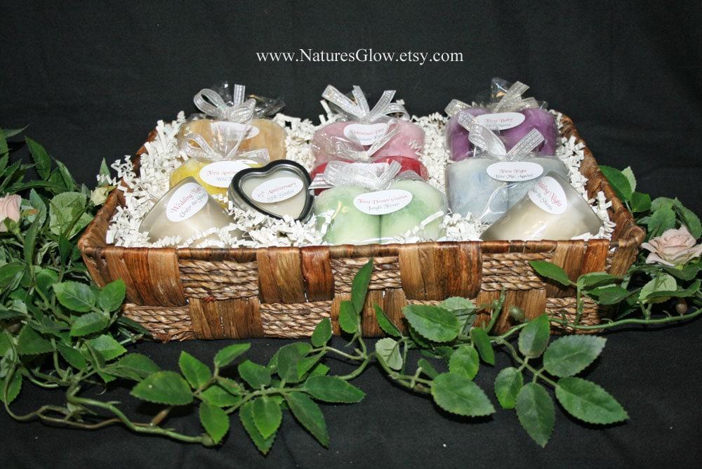 Wedding Gift Basket Etsy : Bridal Shower Gift Bridal Candle Basket Wedding Shower