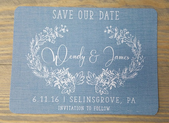 Rustic Save The Date, blue save the date, save the date, hand drawn save the date, flowers, save the date, wreath