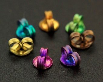 Light Weight Anodized Titanium Ear Nuts, Backs, Clutches, ThiNgS