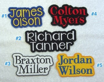 Name Patch Personalized Full Name Patch Fabric Embroidered Iron On Applique Patch MADE TO ORDER