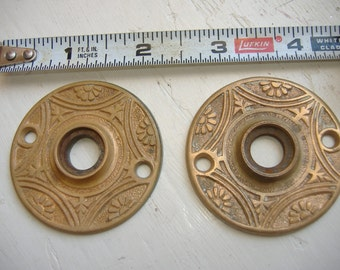 Choice of ONE Ornate Eastlake Cast Bronze Chrome Plated Victorian Door Plates.