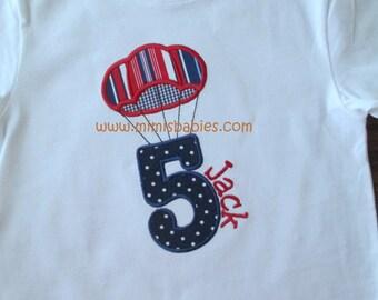 Parachute Birthday Shirt, Parachuting Birthday Number