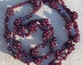 SALE GORGEOUS GARNET ll  Deep red Garnet stone necklace, long garnet necklace, garnet jewelry, garnet