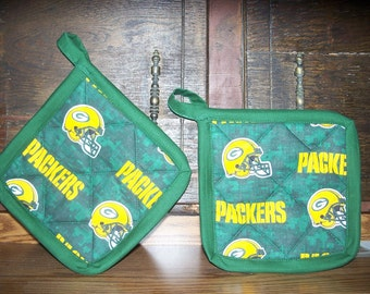 2 GreenBay Packers Pot Holders