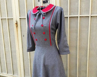 JANET swing or pencil vintage dress inspired from custom made