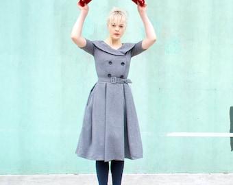 lovely swing pleat dress custom made celeb inspired