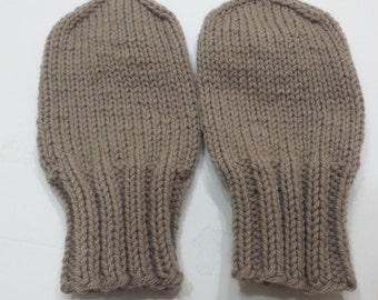 Handmade Knit Special Needs Thumbless Mittens