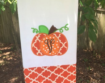 Personalized fall kitchen towel