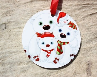 Round Double Sided Aluminum Photo Ornament Christmas Ornament