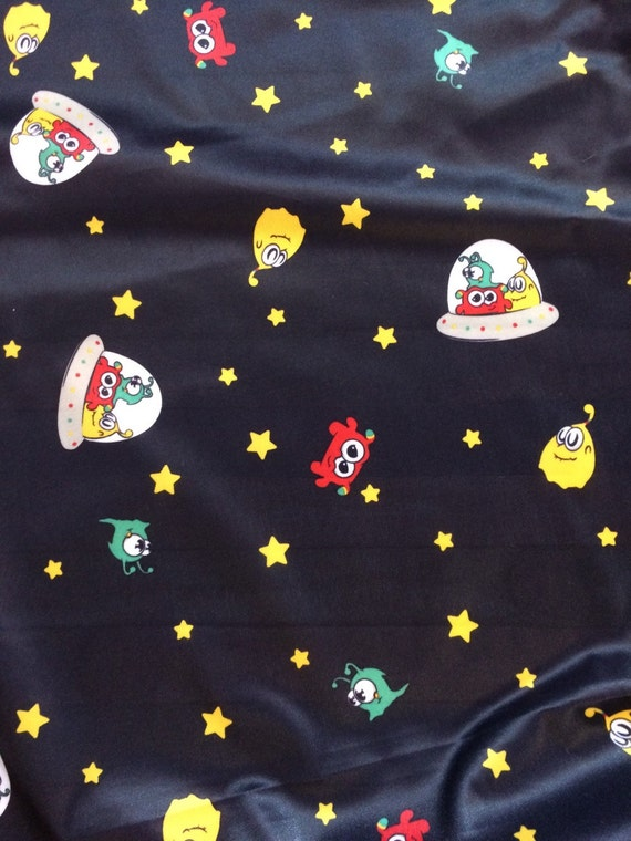 Destash sale black alien polyester pul fabric by for Alien fabric