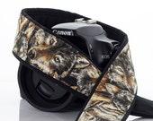 Wolf Camera Strap, dSLR,  Wolves, Canon Nikon Camera Strap, Mens Camera Strap, Pocket, Camera Neck Strap, SLR, 218