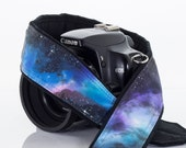 Extra Long Galaxy Camera Strap 16-4, OOAK Hand painted, One of a Kind, dSLR or SLR, Cosmos, Nebula, Space, Quick Release