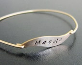 Name Jewelry, Stamped Personalized Engraved Bracelet, Gold Custom Engraved Bracelet, Personalized Engraved Jewelry, Custom Engraved Jewelry