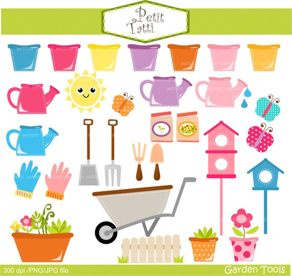 On sale garden tools clip art watering can clip art for Gardening tools on sale