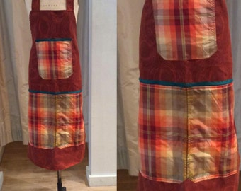 Red Plaid Apron