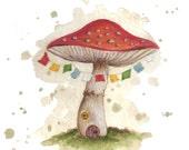 Toadstool Faery House Print #2