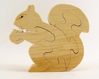 Squirrel with Nut Wood Puzzle