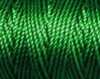 Green Tex 400 C Lon Beading Cord, 39 yard spool C Lon Beading Cord, Kumihimo Beading Cord