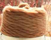 """Pin Drafted Roving """"Nupp"""" - cvm wool blended with alpaca natural colors  romeldale cvm roving"""