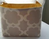 Fabric Organizer Basket Container Grey  Garden Tarika Moss Bin Caddy Storage -