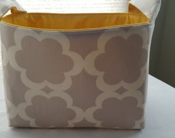 Fabric Organizer Basket Container Gray Garden Tarika Moss Bin Caddy Storage -