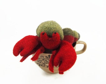 waldorf toy, eco friendly toy, hermit crab, all natural toy