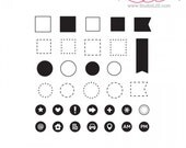 Studio l2e ICONIC OUTLINES Plan It stamp set