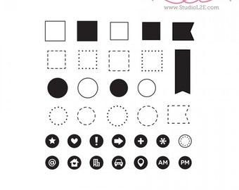 Studio l2e ICONIC OUTLINES Plan It stamp set