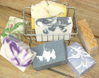 6 Soaps for 31 DOLLARS- Artisan Soap-Cold Process Handmade Soap-Priority Mail