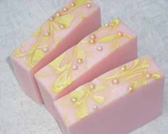 Love Spell Soap / pink soap / feminine soap / Cold Process Handmade Soap