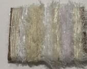 ice yarns SAMPLES fiber art bundle cards white cream shades eyelash sale lurex sweet sparkle crochet knitting left over yarn scrap booking