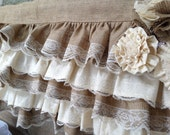Burlap and Lace Valance