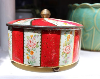 Horner's Tin England  Flowers Swirl designVINTAGE by Plantdreaming