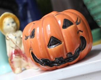 Haeger Pottery Pumpkin Jack O' Lantern USA VINTAGE by Plantdreaming