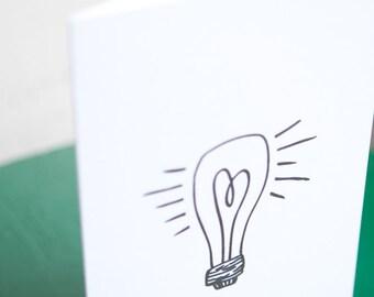 heart lightbulb (4x5 card + envelope)
