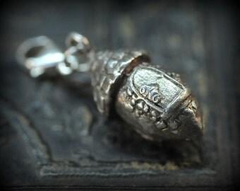 Acorn Fairy House charm