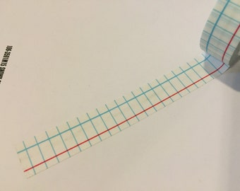 Notebook paper washi tape sample 18""