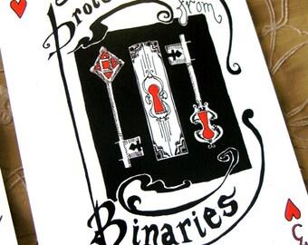Binaries Postcard * Portable Fortitude