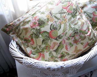 Pillow Cases, April Cornell, Two Pillow Cases, Yellow, French Country, Shabby Cottage, English Cottage, Tapestry by mailordervintage on etsy