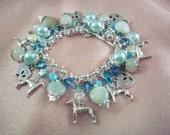 GREYHOUND -ag6- Free Shipping-SPRING Sale -Whippet-Italian Greyhound-  Charm Bracelet-Dog - Free Gift  -  Handmade by USA Artisan - Last One