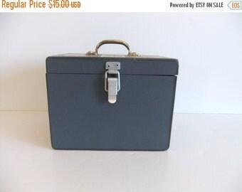 ON SALE Vintage Box Gray Industrial Storage Box