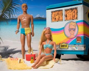 "LIMITED EDITION Malibu Barbie and Ken Fine Art Photograph 12"" x 16"""