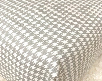 Ritzy Baby Grey Houndstooth Crib Sheet, Softer After Every Wash
